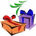 Christmas Gifts embroidery design
