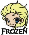 Elsa Chibi Frozen 2 embroidery design