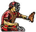 Baseball player 7 embroidery design
