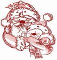 Santa and snowman 4 embroidery design