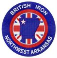 British Iron Northwest Arkansas logo embroidery design