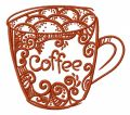Decorated coffee cup 2 embroidery design