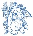 Lop-eared bunny 9 embroidery design