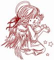 Angel with star dust 4 embroidery design