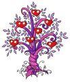 Magic tree 4 embroidery design