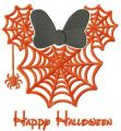 Minnie Happy Halloween embroidery design