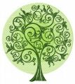 Green tree 4 embroidery design