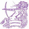 Zodiac sign Sagittarius 6 embroidery design