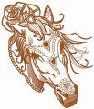Coquette horse 5 embroidery design
