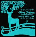 Christmas deer 4 embroidery design