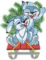 Christmas Bunnies embroidery design