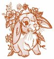 Lop-eared bunny 8 embroidery design
