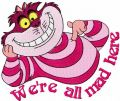cheshire Cat smile embroidery design