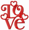 Love decoration 3 embroidery design