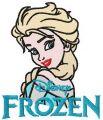 Elsa embroidery design