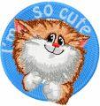 Cat I*m so cute embroidery design