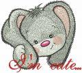 I'm cute bunny embroidery design