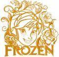 Anna gold summer embroidery design