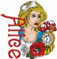 Alice embroidery design