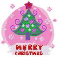 New Year tree embroidery design