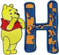 Winnie Pooh Alphabet letter H embroidery design