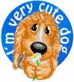 I*m cute very cute dog embroidery design