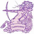Zodiac sign Sagittarius 5 embroidery design