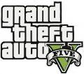 Grand Theft Auto five logo embroidery design