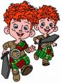 Hubert and Hamish embroidery design