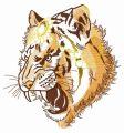 Raja's tiger embroidery design