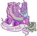 Sport girls embroidery design