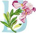 Iris Letter U embroidery design
