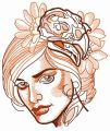 Strict look embroidery design