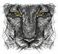 Predator's sketch embroidery design