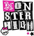 Monster High wordmark logo embroidery design