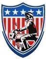 American biker badge embroidery design