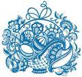 Ghzel basket embroidery design