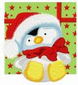 Penguin in Santa hat 2 embroidery design