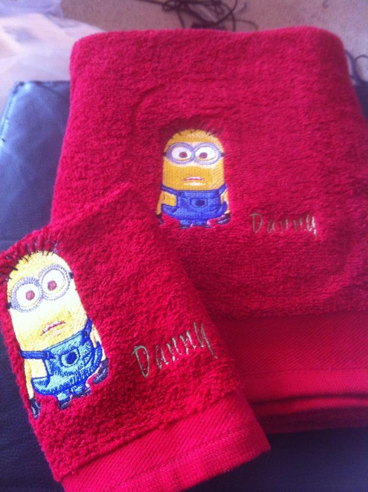 Minion design on towel7