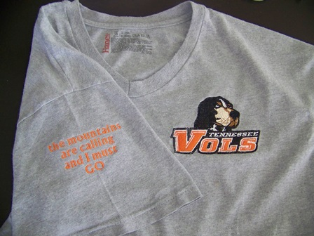Tennessee volunteers alternate logo embroidery