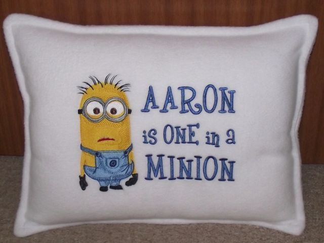 Minion design on pillowcase1