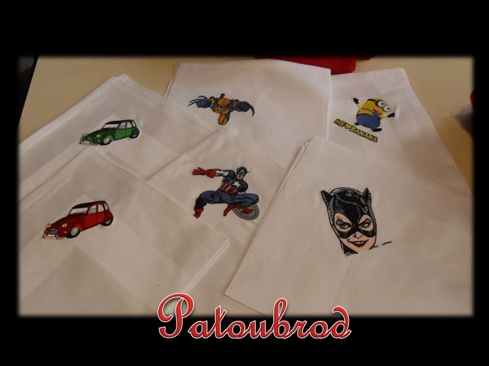 Different designs embroidered1