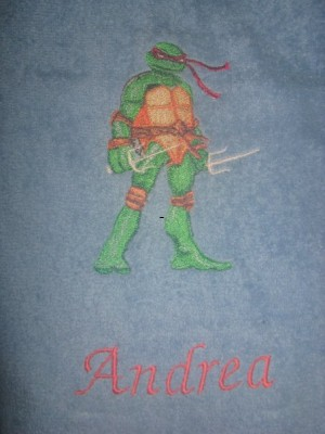 Michelangelo design embroidered