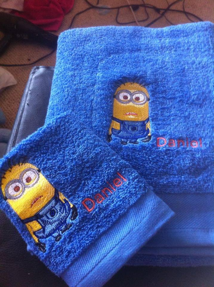 Minion design on towel3