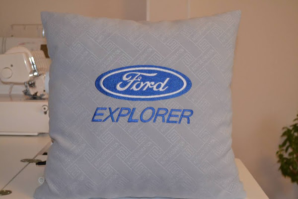 Ford logo design on pillowcase3