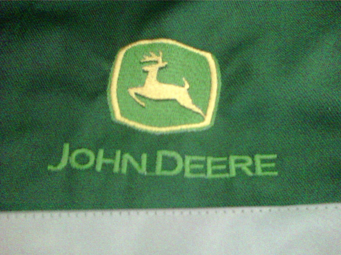 John Deere logo design embroidered1