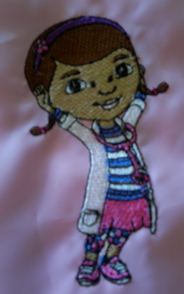 Doc McStuffins design embroidered