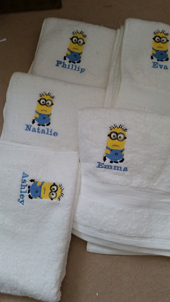 Minion design on towel13