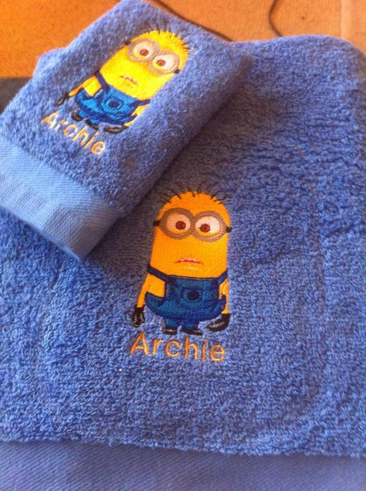 Minion design on towel1