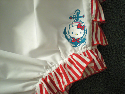 Hello Kitty embroidered nautical baby outfit